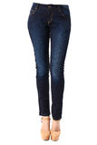 Woman in blue jeans. Isolate Woman in blue jeans Stock Photography