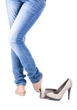 Female leg in shoes Royalty Free Stock Image