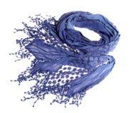 Woman blue stylish scarf stock photo