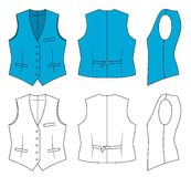 Woman blue waistcoat Stock Photos