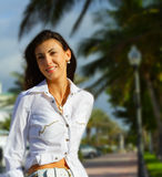 Woman on Blurry background Royalty Free Stock Image