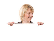 Woman and board royalty free stock photography