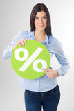 Woman with board Stock Image
