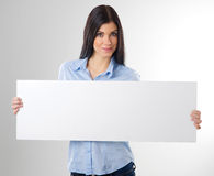 Woman with board Royalty Free Stock Photography