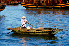 Woman on boat Royalty Free Stock Image