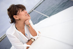 Woman in a boat Royalty Free Stock Photos