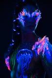 Woman with body art Stock Photos