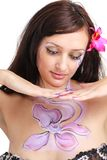 Woman with body art close up Stock Images