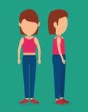 Woman body avatar Royalty Free Stock Image
