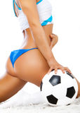 Woman body and ball Stock Photo