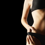 Woman body in black lingerie Royalty Free Stock Image