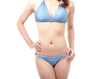 Woman body with blue bikini Stock Photo