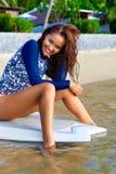 Woman Body Health. Girl In Bikini On Beach. Beauty, Wellness Stock Images