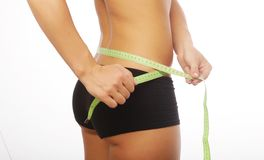 Woman body part is being measured Stock Photo