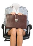 Woman body sitting in chair Royalty Free Stock Photo