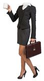 Woman body with suitcase Stock Photography