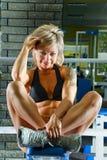 Woman bodybuilder Stock Image
