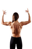 Woman bodybuilder showing muscular body Royalty Free Stock Photo