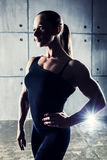 Woman bodybuilder Royalty Free Stock Images