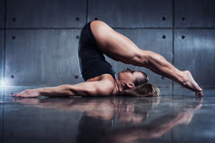 Woman bodybuilder Stock Photography