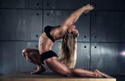 Woman bodybuilder Royalty Free Stock Image
