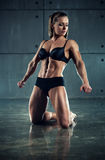 Woman bodybuilder Royalty Free Stock Photography
