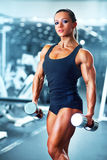Woman bodybuilder Royalty Free Stock Photo