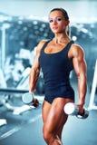 Woman bodybuilder Royalty Free Stock Photo