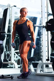 Woman bodybuilder Stock Image