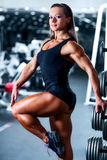Woman bodybuilder Stock Photo