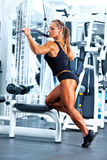 Woman bodybuilder Stock Images