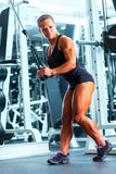 Woman bodybuilder Royalty Free Stock Image