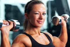 Woman bodybuilder Royalty Free Stock Photos