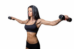 Woman bodybuilding Royalty Free Stock Photography