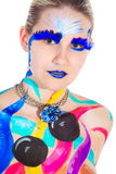 Woman with bodypainting Royalty Free Stock Photos