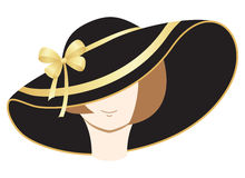 A woman in the bonnet. Vector illustration, isolated on a white Stock Images
