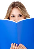 Woman with a book Royalty Free Stock Photo
