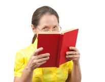 Woman with book Stock Photos