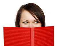 Woman with a book Stock Images