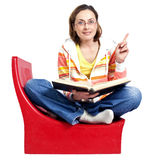 The woman with the book Stock Photos