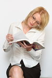 Woman and book. She is beauty woman and book Royalty Free Stock Images
