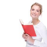Woman with book Royalty Free Stock Image