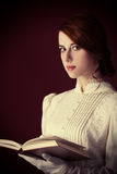 Woman with book Stock Photography