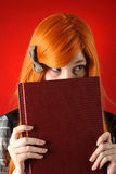 Woman with book Royalty Free Stock Photography