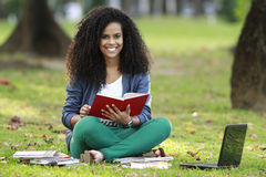 Woman with book Stock Photo