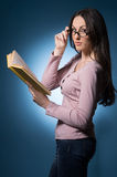Woman with book. Royalty Free Stock Photo