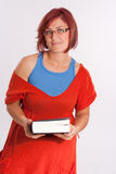 Woman with book Stock Image