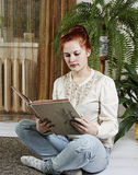 Woman with book. Stock Image