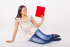 Woman book Royalty Free Stock Photos