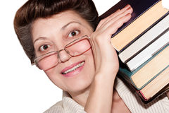 The woman with the books Royalty Free Stock Image